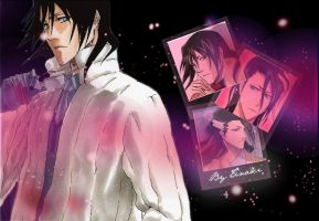 Kuchiki Pink Wallpaper by tinakii