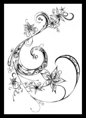 star tattoo swirl by ~Darkhalf05 on deviantART swirl tattoo designs