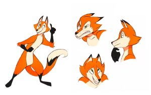 Cartoon Fox by Zimeta