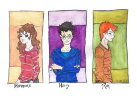 Golden Trio by Naiad-eyes