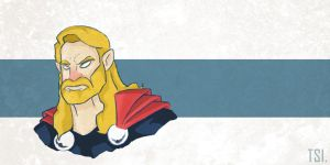 Thor by sketchingtuhin