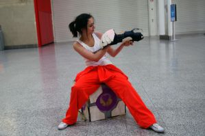 Chell by Valliescosplay