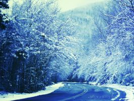 Frozen Road by Alyphoto