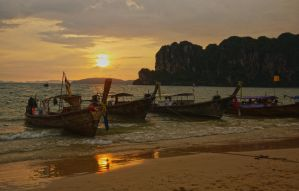 Railay Sunset by annamarcella24