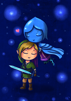 Link and Fi by saurien