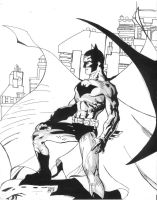 Batman on rooftop by juanjosilva