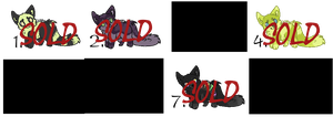 Wolf/dog adoptables 1. Closed. by Melody335