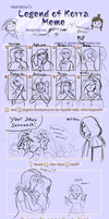 Korra Vs humanized ponies: completed meme! by go4moo