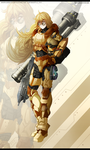 RWBY- Yang Xiao Long - SPARTAN armour by dishwasher1910