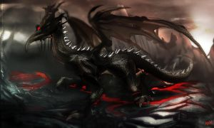 Black Dragon Kalameet by nahnahnivek