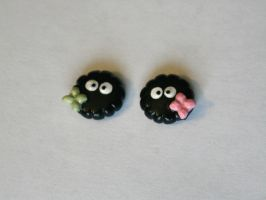 Soot Sprite earrings by LittleLoveInc