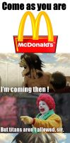 Eren and McDonald's by Eroshik