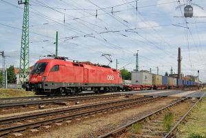 1116 069 with freight in Gyor station by morpheus880223