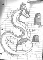 Dragon of the Castle by KyteLeonhart