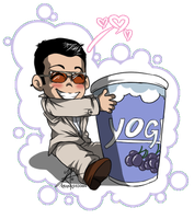 Michael loves his Yoghurt by InvisibleRainArt