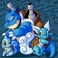 Squirtle Troupe by LadyUndead