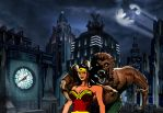 Wonder Woman - Attacked by Wolfman by Donovan448