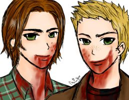 Leviathan Sam and Dean by lemonpie-art