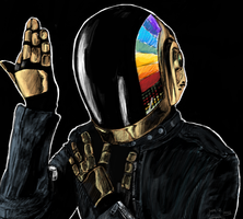 Daft Punk 1 by DeathPixels