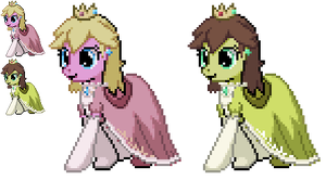 Ponymon Sprites : Princess Peach by DMN666