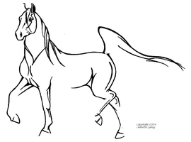 Arabian Line Drawing by Ashwin24
