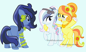 Adopted OCs 3 - We're So Fancy! by MonkFishyAdopts