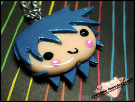 Aqua Chibi Necklace by GrandmaThunderpants
