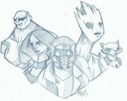 Guardians of the Galaxy sketch by GeekyAnimator