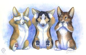 Three Wise Corgis by Idess