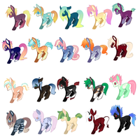 Pony Adopts! (OPEN!) by Lodidah