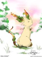 Winter Leafeon by super-tuler