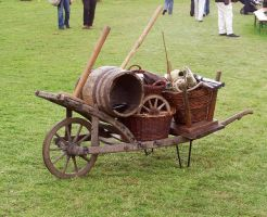 Medieval Wheelbarrow Stock by ValerianaSTOCK