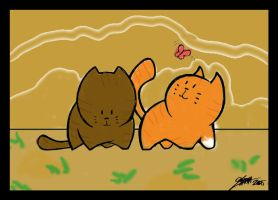 Brambleclaw and Squirrelflight by mosstalon89