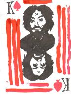 Charlie Manson Playing Card by Buhla