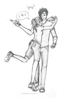 Percy and Annabeth by kimchiiWOOt