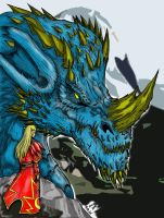 blue dragon 2 by YukiKoori