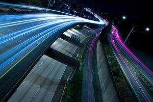 I5 freeway traffic at night by zikrostag