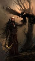 Necromancer with a Death Hawk by DreadJim