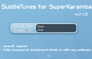 SubtleTunes for SuperKaramba by motsrox