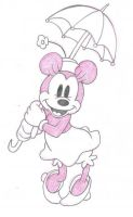 Sketch - Minnie Mouse by happineff
