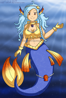 [CLOSED] Blue Mermaid Adoptable by izka197