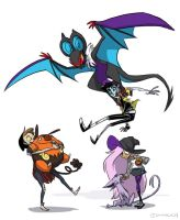 Hellaween vs Pokemon by DIN0LICH