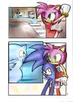 Sonic :: Sonamy colored page 1 by AkiruNyang