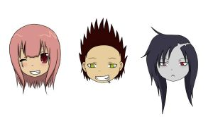 Crew Heads xD by JellyPirate
