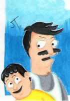 Bob's Burgers sketch card by johnnyism