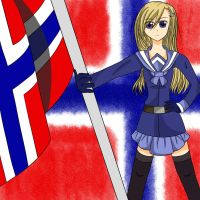 Waving Flag World Tribute - FemNorway by midori555