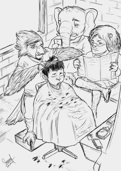 Daily-Sketch_ When i in Barbershop by mamatrozi