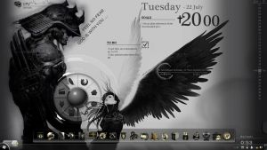 My First Rainmeter Desktop by xyphialken