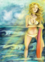 Feeling the Tide-Tessie Clune by tessieart333