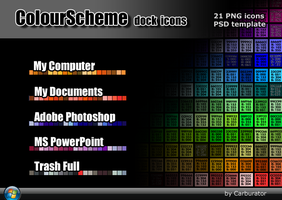 ColourScheme dock icons by Carburator